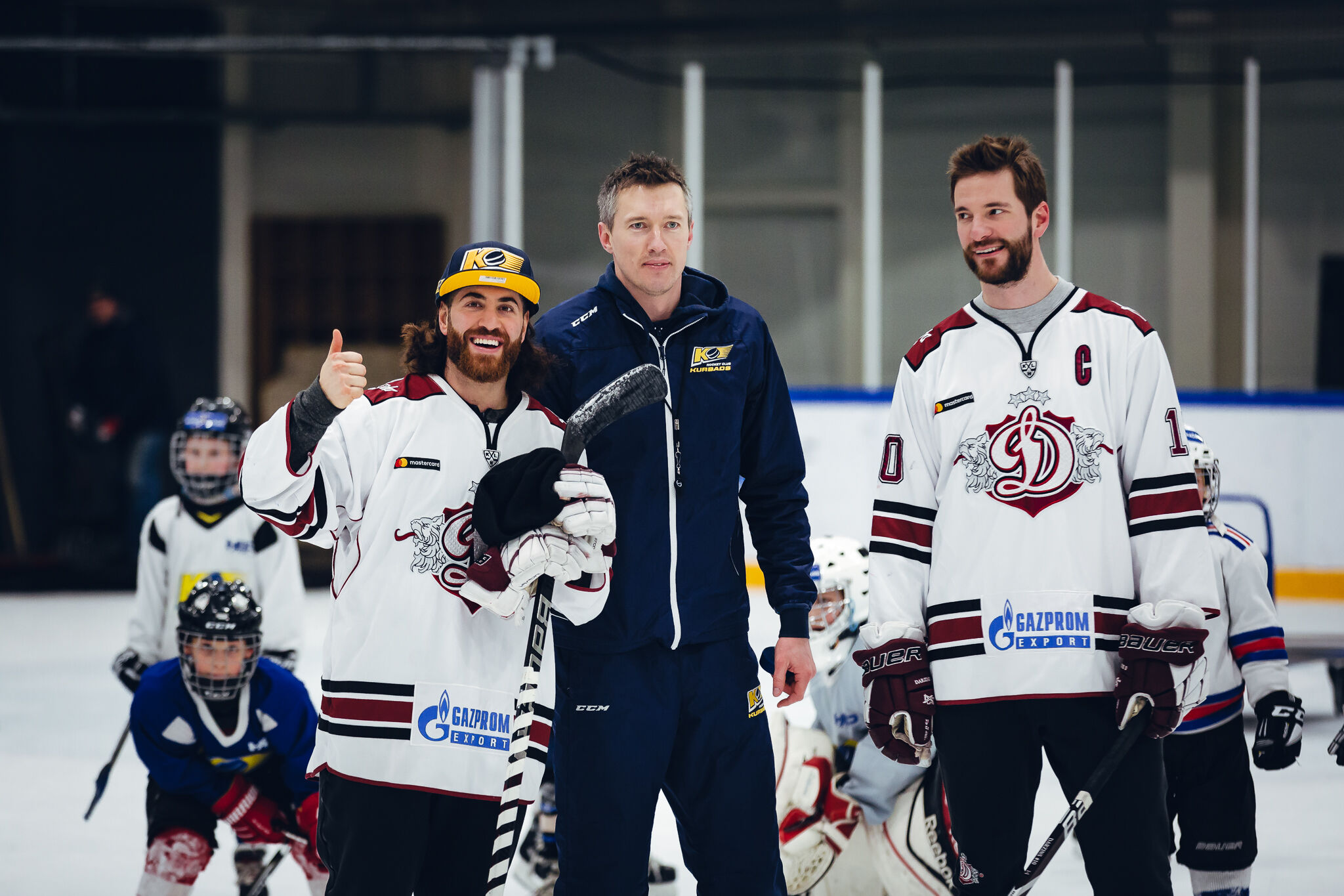 Dinamo Riga stars visit our sports school!